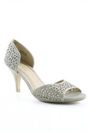 licean High Heel Sandal grey-beige floral pattern romantic style