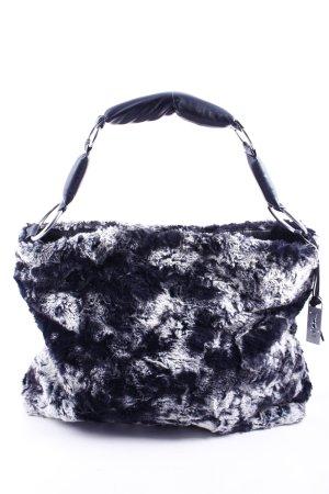 Lieb Ju Handtasche schwarz-wollweiß Struktur-Optik
