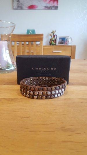 Liebeskind Berlin Bracelet en cuir brun
