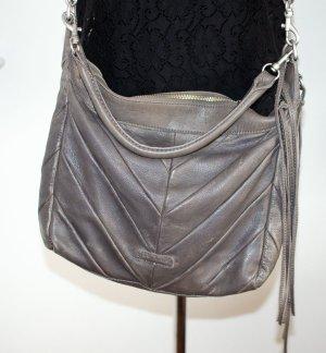 Liebeskind Ania Vintage Watersnake Tasche Henkel & Gurt als Umhänge-/Cross oder Schulter-Tasche tragbar, Echt Leder. French Grey