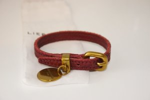 Liebeskind Berlin Leather Bracelet bordeaux leather
