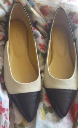 Liebeskind Ballerinas Slipper Leder Two Tone Chanel Stil Style 40