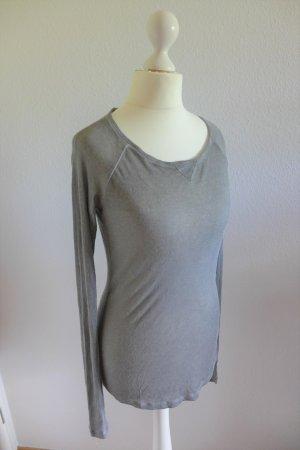 Liebeskind Berliin Shirt dünner Pulli Pullover grau braun beige Gr. S/36 Kaschmir