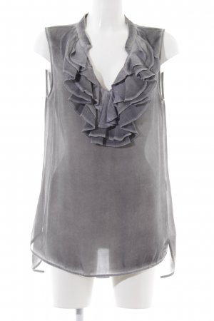 Liebeskind Berlin Sleeveless Blouse light grey classic style