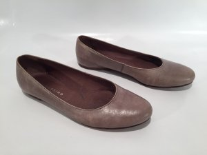 Liebeskind Berlin Mary Jane Ballerinas grey brown leather