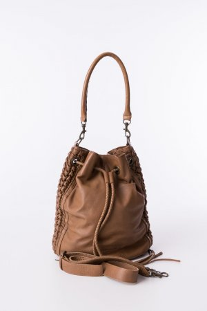 Liebeskind Berlin Pouch Bag brown leather