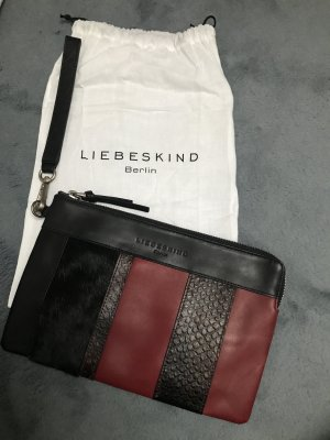 Liebeskind Berlin Clutch black-carmine leather