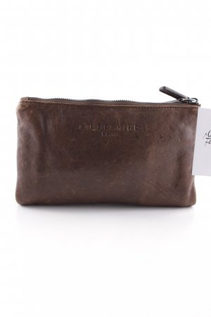Liebeskind Berlin Clutch braun-schwarz Materialmix-Look