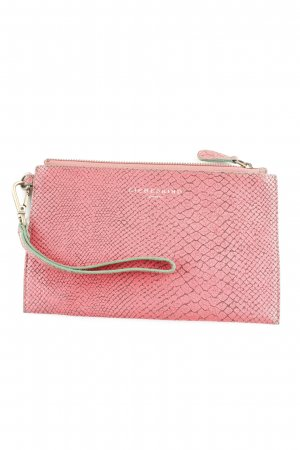 Liebeskind Berlin Clutch hellrot-lachs Animal-Look