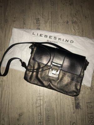 Liebeskind Berlin Crossbody/Umhängetasche Leder schwarz/metallic-snake