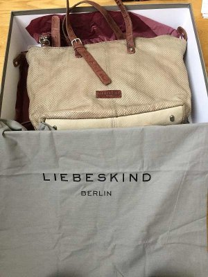 Liebeskind Berlin Pouch Bag beige leather