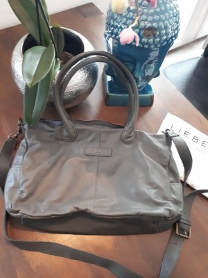 Liebeskind Berlin Carry Bag dark grey leather