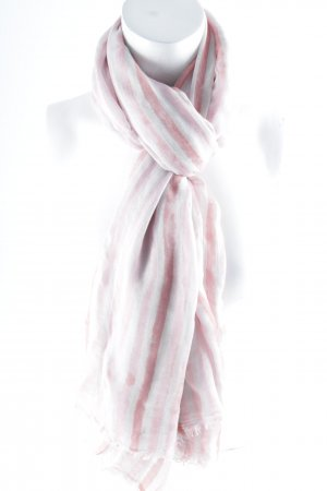 Liebeskind Berlin Fringed Scarf pink-bright red striped pattern casual look