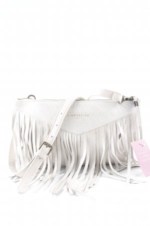 Liebeskind Berlin Fringed Bag cream-gold-colored wet-look
