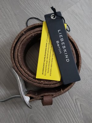 Liebeskind Berlin Leather Belt brown
