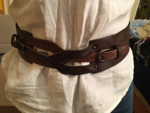 Liebeskind Berlin Leather Belt dark brown