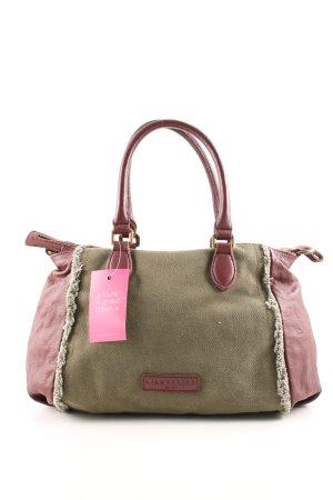 Liebeskind Berlin Handtasche khaki-pink extravaganter Stil