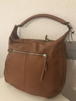 LIEBESKIND BERLIN Handtasche Echtleder Shopper Vintage Hobo Bag PAZIA7 cognacNEU