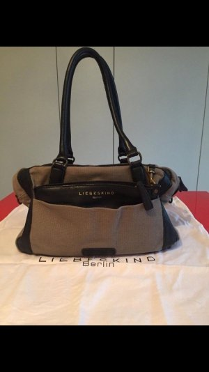 Liebeskind Berlin Carry Bag grey-black cotton