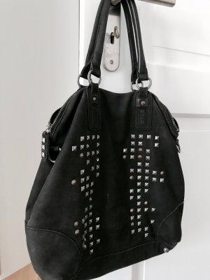 Liebeskind Berlin Handtasche Shopper Schwarz Nieten