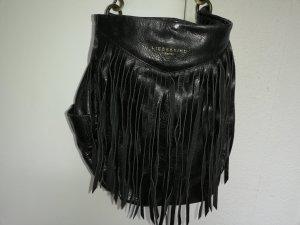 Liebeskind Berlin hochwertige Leder-Hobo-Bag mit Fransen in schwarz - neu ohne Etikett (Neupreis 299,00)