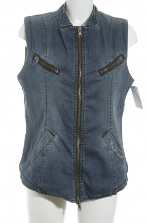 Liebeskind Berlin Denim Vest steel blue-taupe street-fashion look