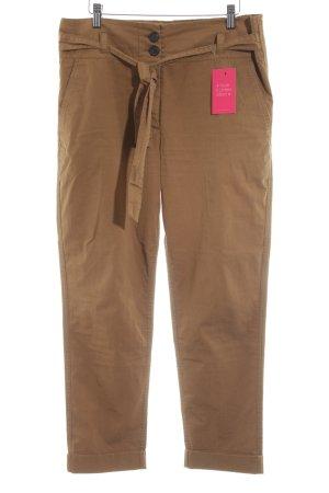 Liebeskind Berlin Pantalón de pinza alto marrón look casual