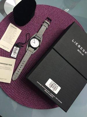 Liebeskind Berlin Leder Uhr Grau LT-0046-LQ Woven Produktlinie 189,90€ Neuwertig Armbanduhr
