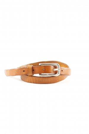 Liebeskind Berlin Leather Belt brown-silver-colored casual look