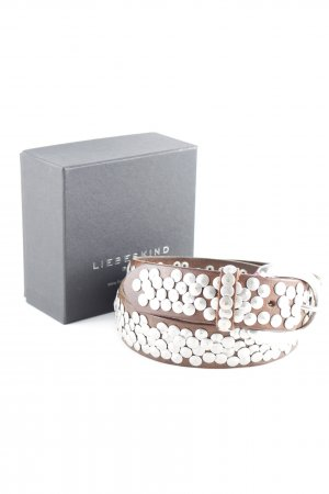 Liebeskind Berlin Leather Belt dark brown-silver-colored casual look