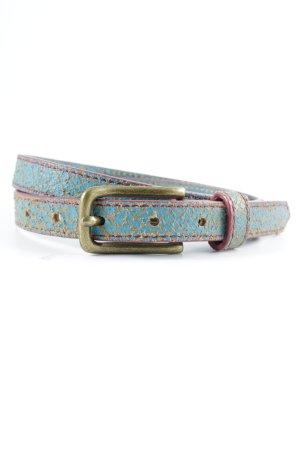 Liebeskind Berlin Leather Belt turquoise animal pattern