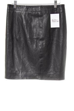 Liebeskind Berlin Leather Skirt black matte look