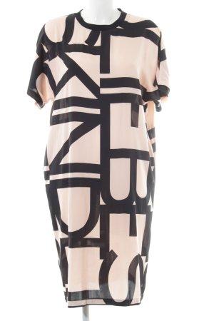 Liebeskind Berlin Midi Dress black-nude abstract pattern casual look