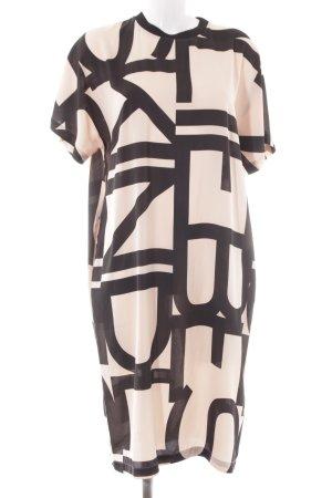 Liebeskind Berlin Midi Dress black-nude printed lettering elegant