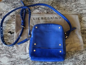 Liebeskind Crossbody bag dark blue-gold-colored leather