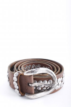 Liebeskind Berlin Studded Belt brown casual look