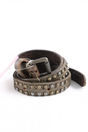 Liebeskind Berlin Studded Belt khaki-bronze-colored extravagant style