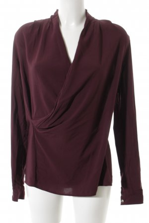 Liebeskind Berlin Slip-over blouse braambesrood Wikkel-look