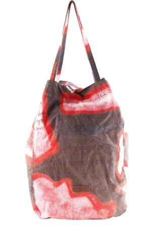 Liebeskind Berlin Shopper schwarz-rot abstrakter Druck extravaganter Stil