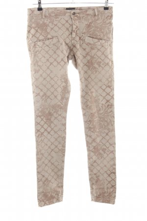 Liebeskind Berlin Skinny Jeans creme-braun Allover-Druck Casual-Look