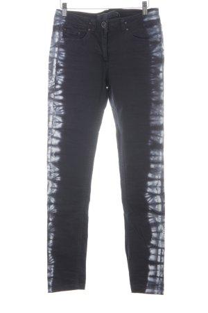 Liebeskind Berlin Skinny Jeans dunkelblau-weiß Batikmuster Casual-Look
