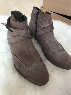 Liebeskind Berlin Booties grey brown leather