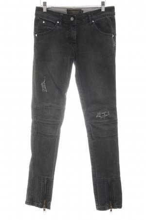 Liebeskind Berlin Straight-Leg Jeans taupe-grau Destroy-Optik