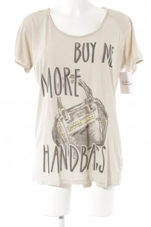 Liebeskind Berlin T-Shirt beige Motivdruck Casual-Look