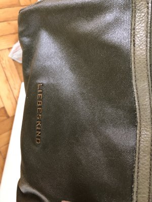 Liebeskind Berlin Carry Bag grey lilac-olive green leather