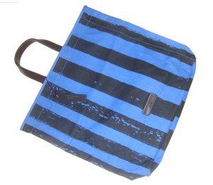 Liebeskind Berlin Tasche Shopper Badetasche Strandtasche Weekender blau grau neu