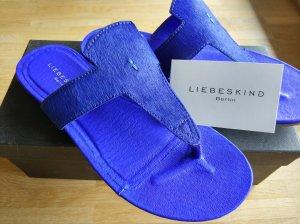 Liebeskind Berlin Entre-doigt bleu cuir