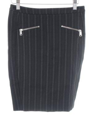 Liebeskind Pencil Skirt black-grey pinstripe business style