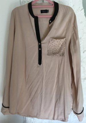 Liebeskind Bluse mit Perlen-Details in braun/beige