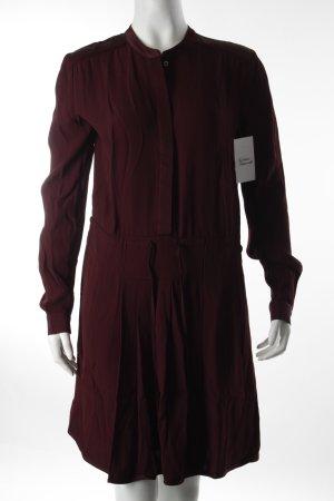 Liebeskind Vestido camisero burdeos estilo clásico